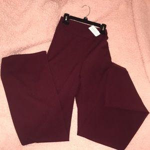 Burgundy Flared pants